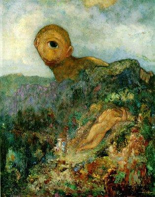 Odile Redon (1914) Le Cyclope, typisch voorbeeld van symbolisme