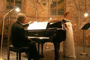 Crista Peiler en Rudolf Jansen op een klassiek recital