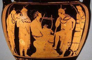 Orpheus en Eurydice in de onderwereld